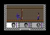 Big Trouble in Little China Commodore 64 You will fight blue martial artists a lot in this game.