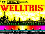Welltris ZX Spectrum Second load screen