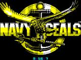 Navy Seals ZX Spectrum Load screen. A counter counts down the time remaining. At zero the screen changes