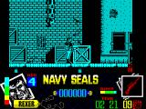 Navy Seals ZX Spectrum It seems I shoot low, into the crate, whereas the bad guy shoots high - over the crate and into me. Another life gone.
