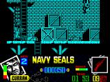 Navy Seals ZX Spectrum I climbed up and somehow got my 1st bad guy