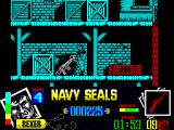 Navy Seals ZX Spectrum The red crate contains a gun. When this character dies the gun is lost. The crate does not come back, however there are others