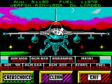 F-16 Combat Pilot ZX Spectrum Load weapons. I chose the default 'Crews Choice' but weapons can be selected individually.