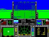 F-16 Combat Pilot ZX Spectrum The message scrolling across below the gun sight is 'clear for takeoff'