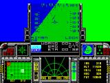 F-16 Combat Pilot ZX Spectrum Successful take-off, banking right
