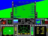 F-16 Combat Pilot ZX Spectrum The message below the gun sight says 'Bandit 32 mls""