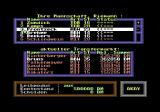 Bundesliga Manager Commodore 64 Menu screen for transfers