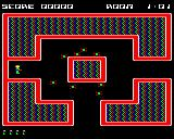 Cybertron Mission BBC Micro The first room, with Spinners closing in.