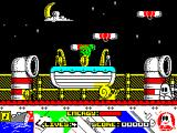Titanic Blinky ZX Spectrum Moving left. Snails take away energy. Little green men take a life