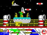 Titanic Blinky ZX Spectrum He can't get at me up here. Unfortunately the only way to go is down and to the left