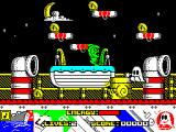Titanic Blinky ZX Spectrum Moving left, screen 3, more snails and ganother green man.