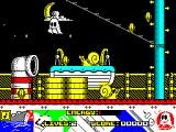 Titanic Blinky ZX Spectrum Screen 4 moving left. Snails cannot be killed by jumping on them, that just costs more energy. In fact it does not seem as though Blinky can fight back