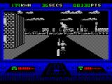 OutRun Europa ZX Spectrum A helpful arrow in the sky shows the way to go