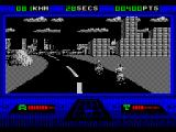 OutRun Europa ZX Spectrum Some of the cars are police cars and should not be crashed into
