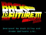 Back to the Future Part III ZX Spectrum Third load screen and credits. There are a few of these.