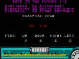 Back to the Future Part III ZX Spectrum Key definition