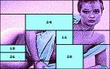 Centerfold Squares DOS Win the puzzles to clear squares (CGA)