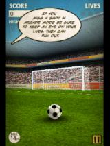 Flick Kick Football Android An empty goal - can't be so hard, can it?