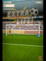 Flick Kick Football Android Hitting the skill zone results in an extra life