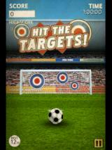 Flick Kick Football Android Hit the targets in the bullseye mode
