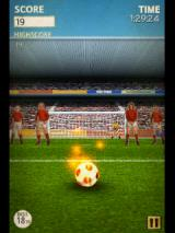 Flick Kick Football Android The burning ball can be shot through a defender