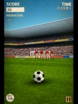 Flick Kick Football Android Will need to curve it to score from here