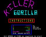 Killer Gorilla BBC Micro The title screen.
