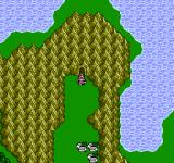 Final Fantasy III NES On the world map