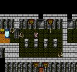 Final Fantasy III NES Spooky palace dungeon with ghosts