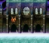 Bahamut Lagoon SNES The dragon is flying outside of the castle walls - beautiful scene!..