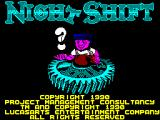 Night Shift ZX Spectrum Load screen