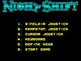 Night Shift ZX Spectrum Game options