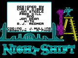 Night Shift ZX Spectrum Fiona cranks the handle and the credits roll.