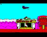 Strykers Run BBC Micro Flying over an old ABC cinema taking a pop at the number of Rocky sequels there are.