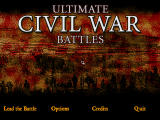 Ultimate Civil War Battles: Robert E. Lee vs Ulysses S. Grant Windows Title Screen.