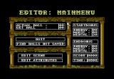 Realm of the Trolls Commodore 64 Main menu of the game's editor