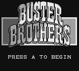 Pang Game Boy Title screen (as Buster Bros.)