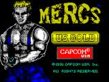 Mercs ZX Spectrum Load screen. Appears very briefly