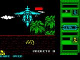 Mercs ZX Spectrum I think this is the end of level boss. It's not an easy thing to kill. I came close but it chewed up my last life first