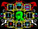 Gauntlet III: The Final Quest ZX Spectrum Each of the icons round the outside represents a character. The space bar moves me round the screen. Enter selects the character as the one I get to play