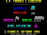 F-1 ZX Spectrum Load screen