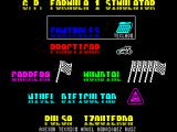 F-1 ZX Spectrum If a keyboard controller is selected the action key re-definition takes place at the bottom of this screen