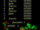 Santa's Xmas Caper ZX Spectrum Hi-score table