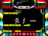 Hawk Storm ZX Spectrum The alien does not attack. Instead they let me run onto a platform that disintegrates beneath me