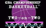 GBA Championship Basketball: Two-on-Two DOS Title screen