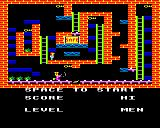 Blagger BBC Micro Level 5: This level has a toilet with a flapping lid at the bottom. Shades of 'Eugene's Lair'? (Manic Miner)
