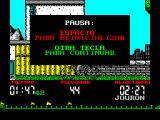 Tour 91 ZX Spectrum Bashing buttons, even for 1 min 47 seconds, is tiring so being able to pause the action is very handy