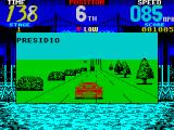 Cisco Heat: All American Police Car Race ZX Spectrum The roads are still straight. I'm now 6th, (later I realised I should have changed gear)