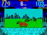 Cisco Heat: All American Police Car Race ZX Spectrum This is a bend in the road.