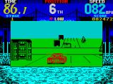 Cisco Heat: All American Police Car Race ZX Spectrum Note the odd size of the buildings.